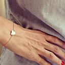 billige Motearmbånd-Dame Vedhend Armband - Hjerte, Kjærlighed Enkel Stil, Mote Armbånd Sølv / Gylden Til Julegaver Fest Daglig