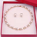 cheap Jewelry Sets-Jewelry Set - Pearl Vintage, Party, Casual Include White For Party / Special Occasion / Anniversary / Birthday / Gift / Earrings / Necklace