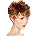 cheap Synthetic Capless Wigs-Synthetic Wig Wavy Synthetic Hair Blonde Wig Women's Short Capless