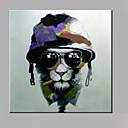 halpa Abstraktit maalaukset-Hang-Painted öljymaalaus Maalattu - Pop Art Moderni Kangas