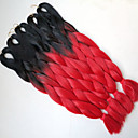 """hesapli Çalışma Aydınlatmaları-Sentetik saç örgü 24 """"100g + kırmızı siyah ombre XPression iki ton Kanekalon jumbo yüksek sıcaklık lif kutusu"""