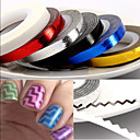 billige Negle Sticker-1pcs Negle Smykker Negle kunst Manicure Pedicure Smuk Mode Daglig / PVC / Negle smykker