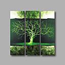 baratos Outras Partes-Pintura a Óleo Pintados à mão - Abstrato Modern Incluir moldura interna / 3 Painéis / Lona esticada