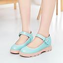 baratos Sapatilhas Femininas-Mulheres Sapatos Courino Primavera / Verão Sem Salto Presilha Bege / Azul / Rosa claro