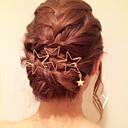 זול סיכות אופנתיות-קליפס לשיער אחיד פליז / סגסוגת מַתַכתִי / אלגנטית בגדי ריקוד נשים