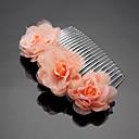 billige Festhovedtøj-chiffon legering hår kamme headpiece elegant klassisk feminin stil