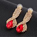 cheap Earrings-Women's Crystal Drop Earrings - Cubic Zirconia, Imitation Diamond Drop Luxury Red / Green / Blue For