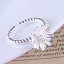 preiswerte Moderinge-Damen Bandring - Sterling Silber Blume Verstellbar Für Party Alltag Normal
