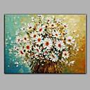 levne Abstraktní malby-Hang-malované olejomalba Ručně malované - Zátiší Pastýřský S rámem / Reprodukce plátna