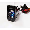 billige Bil Oplader-LED display Bil MP3 FM modulator 1 USB-port Kun oplader DC 5V/2A