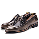 cheap Men's Oxfords-Men's Formal Shoes Patent Leather Fall / Winter Loafers & Slip-Ons Black / Brown / Red / Party & Evening