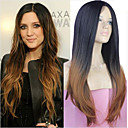 cheap Synthetic Capless Wigs-extensions best quality blend color silky straight wave long syntheic straight wig