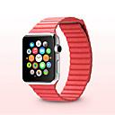 billige Mode Halskæde-Urrem for Apple Watch Series 4/3/2/1 Apple Læderrem Ægte læder Håndledsrem