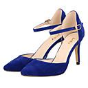 hesapli Kadın Düğün Ayakkabıları-Kadın's Ayakkabı Kumaş Bahar / Yaz Stiletto Topuk Elbise / Parti ve Gece için Mavi / Deve / Badem