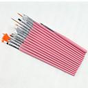 baratos Kits & Conjuntos para Unhas-15pcs unha arte kits pena pintura jogo de escova