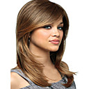 cheap Synthetic Capless Wigs-Synthetic Wig Straight Blonde With Bangs Synthetic Hair Blonde Wig Women's Medium Length Capless