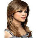 tanie Kucyki-Peruki syntetyczne Prosta Blond Z grzywką Włosie synetyczne Blond Peruka Damskie Długość średnia Bez czepka Blond