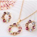 preiswerte Modische Halsketten-Niedlich / Party-Damen-Halskette / Ohrring(Rose Gold überzogen / Legierung / Strass)
