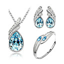 cheap Jewelry Sets-Women's Crystal Jewelry Set - Crystal Angel Wings Include Yellow / Green / Blue For Wedding / Party / Birthday / Earrings / Necklace / Bracelets & Bangles
