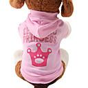 baratos Roupas para Cães-Gato Cachorro Camisola com Capuz Roupas para Cães Tiaras e Coroas Rosa claro Algodão Ocasiões Especiais Para animais de estimação Mulheres