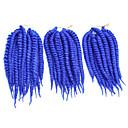 billige Hårstykker-afrikanske sorte hår hånd gnide torsions fletning reb twist fletning er blå STORKØB 1-12packs