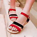 cheap Women's Heels-Women's Shoes Suede Spring / Summer Wedge Heel Split Joint Black / Purple / Black / Red