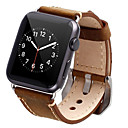 billige Mobilcovers & Skærmbeskyttelse-Urrem for Apple Watch Series 4/3/2/1 Apple Klassisk spænde Ægte læder Håndledsrem