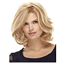 cheap Synthetic Capless Wigs-Synthetic Wig Curly Blonde Bob Haircut / With Bangs Synthetic Hair Side Part Blonde Wig Women's Medium Length Capless
