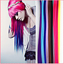 cheap Synthetic Extensions-long synthetic straight and clip in hair extensions with 1 clips 14 color