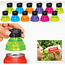 cheap Drinkware Accessories-Set of 6 Creative Soda Savers Toppers Reusable Bottle Caps Can Convert