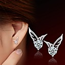 cheap Earrings-Women's Cubic Zirconia Stud Earrings - Sterling Silver, Zircon, Silver Silver For Wedding / Party / Daily