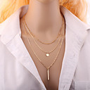 preiswerte Modische Halsketten-Damen Mehrschichtig Halsketten - Modisch, Mehrlagig Silber, Golden Modische Halsketten Schmuck Für Hochzeit, Party, Alltag