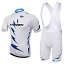 cheap Nail Jewelry-XINTOWN Short Sleeves Cycling Jersey with Bib Shorts - White Bike Bib Shorts Jersey Clothing Suits, 3D Pad, Quick Dry, Ultraviolet