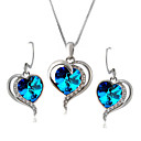 cheap Lamp Bases & Connectors-Crystal Jewelry Set - Imitation Diamond Heart Classic, Party, Work Include Sky Blue For