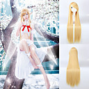 abordables Pelucas para Disfraz-Pelucas sintéticas Recto Rubio Pelo sintético Rubio Peluca Mujer Muy largo Amarillo