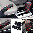 cheap Car Stickers-ZIQIAO Hand Brake Case & Gear Shift Case Car Interior Accessory 2PCS/Set