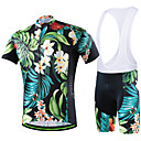 baratos Camisas & Shorts/Calças de Ciclismo-cheji® Homens Manga Curta Camisa com Bermuda Bretelle - Azul Moto Shorts Acolchoados Tights Bib Camisa/Roupas Para Esporte Conjuntos de