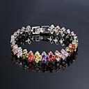 preiswerte Modische Armbänder-Damen Kubikzirkonia Tennis Armbänder - Einzigartiges Design, Modisch Armbänder Weiß / Regenbogen Für Hochzeit Party