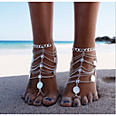 cheap Anklet-Layered Anklet Barefoot Sandals - Silver Personalized, Unique Design, European Silver For Christmas Gifts Daily Casual Women's