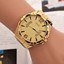 preiswerte Kleideruhr-Herrn Armbanduhr Quartz Armbanduhren für den Alltag Edelstahl Band Analog Charme Gold - Gold Weiß Schwarz Ein Jahr Batterielebensdauer / TY 377A