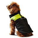 cheap Dog Travel Essentials-Dog Coat / Vest / Puffer / Down Jacket Dog Clothes Color Block Black / Pink / Black / Green / Black / Blue Cotton Costume For Pets Winter Men's / Women's Casual / Daily / Keep Warm