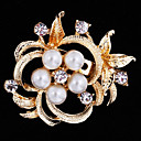 cheap Brooches-Women's Brooches - Pearl, Cubic Zirconia Flower Ladies, Party, Work, Casual, Fashion Brooch Jewelry Gold / Silver For Wedding / Party / Special Occasion / Anniversary / Birthday / Masquerade