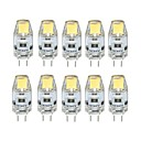 abordables Focos LED-10pcs 1W 100 lm G4 Luces LED de Doble Pin T 1 leds COB Regulable Blanco Cálido Blanco Fresco DC 12V