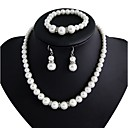 cheap Wedding Shoes-Women's Jewelry / Imitation Pearl Jewelry Set - Others White