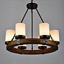 billige Taklamper-6-Light Candle-stil Anheng Lys Opplys Malte Finishes Metall Glass Mini Stil 110-120V / 220-240V Varm Hvit / Hvit Pære ikke Inkludert / FCC / VDE / E26 / E27