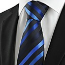 זול אביזרים לגברים-עניבת צווארון - פסים כותנה חוטי זהורית פוליאסטר מסיבה עבודה בסיסי בגדי ריקוד גברים