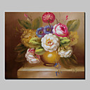 cheap Prints-Oil Painting Hand Painted - Floral / Botanical Classic Canvas