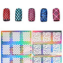 preiswerte Hohler Nagelaufkleber-1 pcs 3D Acrylic Nail Art Molds Stanze Maniküre Schablone Nagel Kunst Maniküre Pediküre Blume / Modisch / Mehrfarbig Alltag / PVC