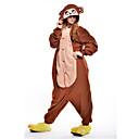 ieftine Pijamale Kigurumi-Pijama Kigurumi Maimuţă Pijama Întreagă Costume Lână polară Maro Cosplay Pentru Sleepwear Pentru Animale Desen animat Halloween Festival