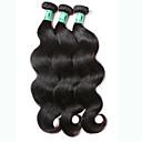 abordables Plafonniers-Lot de 3 Cheveux Péruviens Ondulation naturelle 10A Cheveux Vierges Naturel Tissages de cheveux humains 8-30 pouce Noir Tissages de cheveux humains Extensions de cheveux Naturel humains